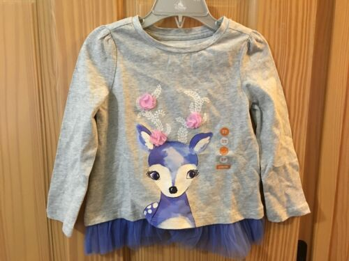 NWT GYMBOREE Fairytale Forest Reindeer Tee Shirt toddler girls Holiday