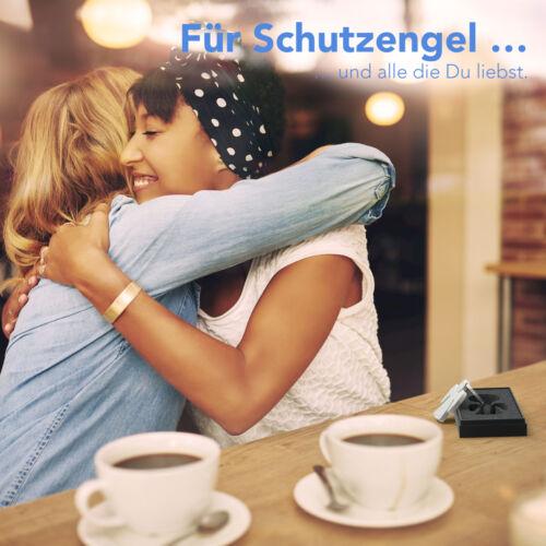 EAZY CASE Premium Schlüsselanhänger Engel Matt Silber Schutzengel Geschenkbox