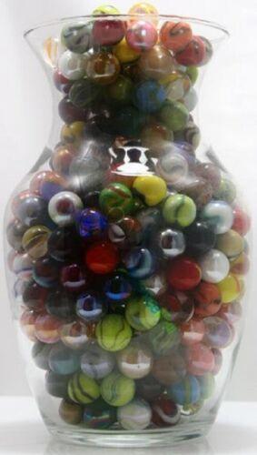 500 Count Bulk Assorted Premium 5//8 Inch Player Glass Mega Marbles Custom Assort