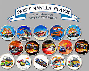 Image Is Loading Hotwheels Hot Wheels Car Birthday Party Wafer Cupcake