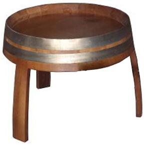 Details Sur Petite Table Meuble Fond Baril Tonneaux Chataignier Baquet 50 Cm Environ
