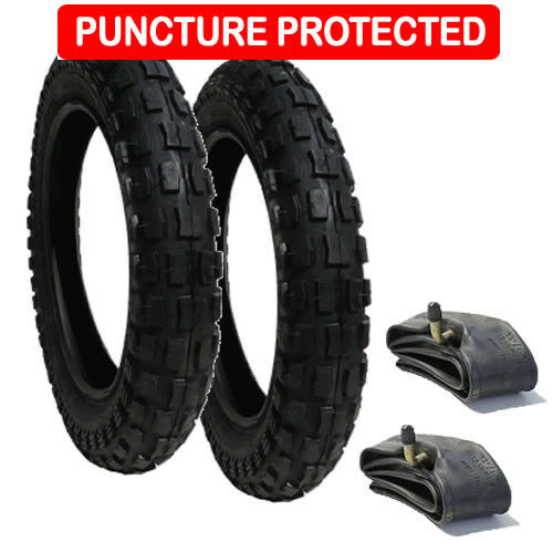 Inner Tube Set 12 1//2 X 2 1//4 Puncture Resistant Heavy Duty Chunky Tyre