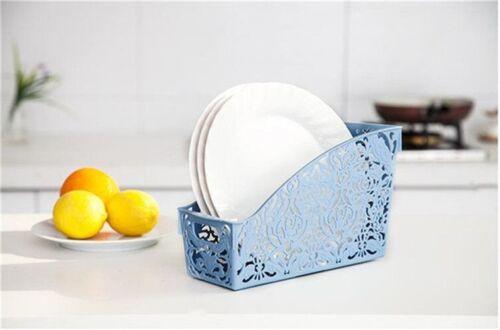Thick Plastic Storage Basket Kitchen Bathroom Container Organizer Baskets Holder