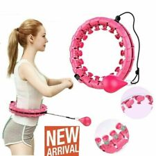 Smart Hoola Hoop,PureZoneA Weighted Smart Hula Hoop for Adults and Kids Exercising,2 in 1 Abdomen Fitness Weight Loss Massage Hoola Hoops,24 Detachable Knots Adjustable Weight Auto-Spinning Ball