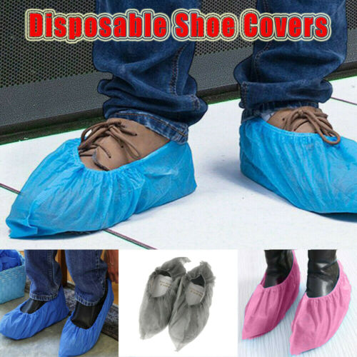 100 Pcs Non Woven Fabric Disposable Shoe Covers Indoor Durable Boot Covers