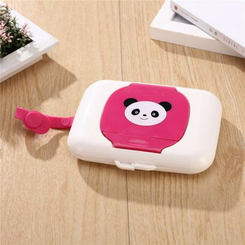 Wet Wipe Pouch Portable Reusable Bag Window Drawing Convenient for Traveling LS6