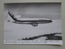 PHOTO PRESSE ARTIST'S CONCEPT LOCKHEED L-1011-500 TRISTAR AIRLINER