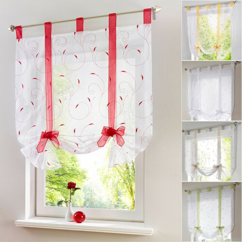 Window Curtain Voile Liftable Blinds Home Kitchen Balcony Curtains Decor LOCA
