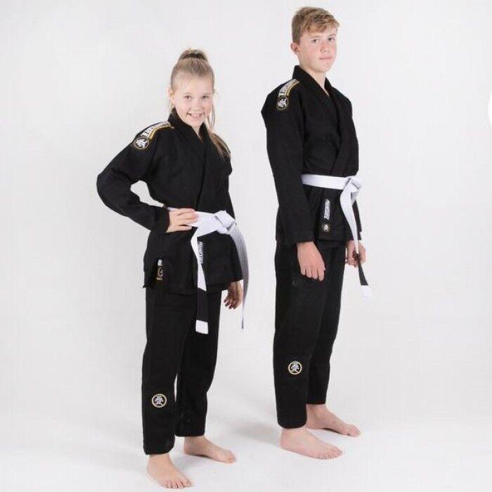 Tatami Kinder Bjj Gi Nova Absolute Schwarz Brasilianisches Jiu-Jitsu Uniform -