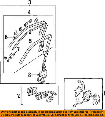 Acura HONDA OEM 90-93 Integra Front Seat Belts-Guide Rail Right 81437SK7A03