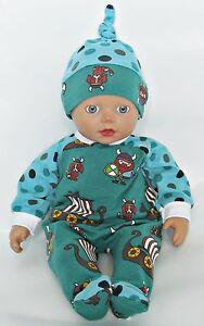 Puppenkleidung-fuer-Little-Baby-Born-32-cm-Puppenkleidung-Set-Neu-Strampler
