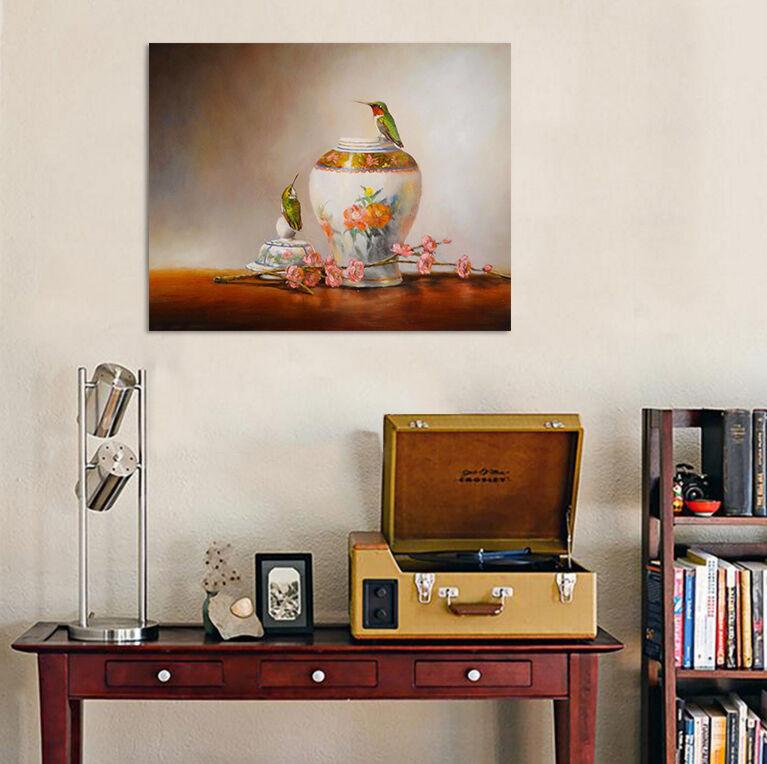 3D Grner Vgel Blaumen Vase 965 Fototapeten Wandbild BildTapete AJSTORE DE Lemon