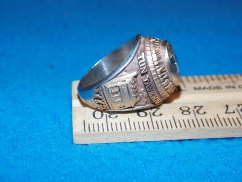 MARINES WOMEN/'S CLEAR STONE SIZE 5.5 RING ALPHA BRAND NOS U.S Details about  /VINTAGE