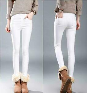 Girl-Para-Mujer-De-Invierno-Calido-Con-Leggings-Gruesas-Stretch-Pantalones-Lapiz-Pantalon