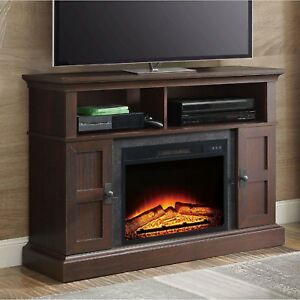media fireplace tv stand 55 inch television entertainment home rh ebay ie 55 inch corner tv stand with electric fireplace