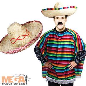 Caricamento dell immagine in corso Poncho-messicano-SOMBRERO-Adulti-Costume -Western-Vestito-Costume- 40ecb9bed25e