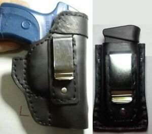 Details about combo pack iwb holster ruger sr9c 9mm sr40c pistol + mag  holster black leather