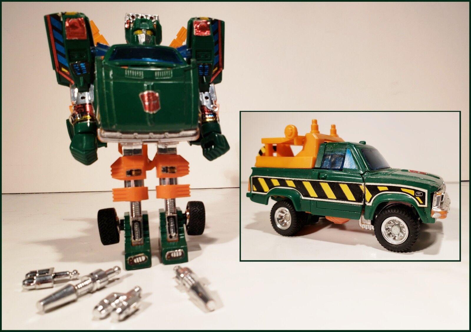 Vintage 1985 G1 HOIST Autobot Tow Truck Wrecker Transformers 100% completare Gen 1