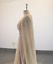 Elegant-Formal-Long-Evening-Dress-Champagne-Tulle-Cape-Beaded-Prom-Party-Gown thumbnail 3
