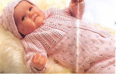 Knitting Pattern- Scandinavian Baby Cardigan-cap-bonnet-romper-dress & more