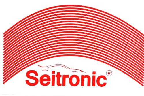 """Seitronic® Felgenrandaufkleber Felgenaufkleber 3mm-15mm Glossy China Red Rot 16/"""""""