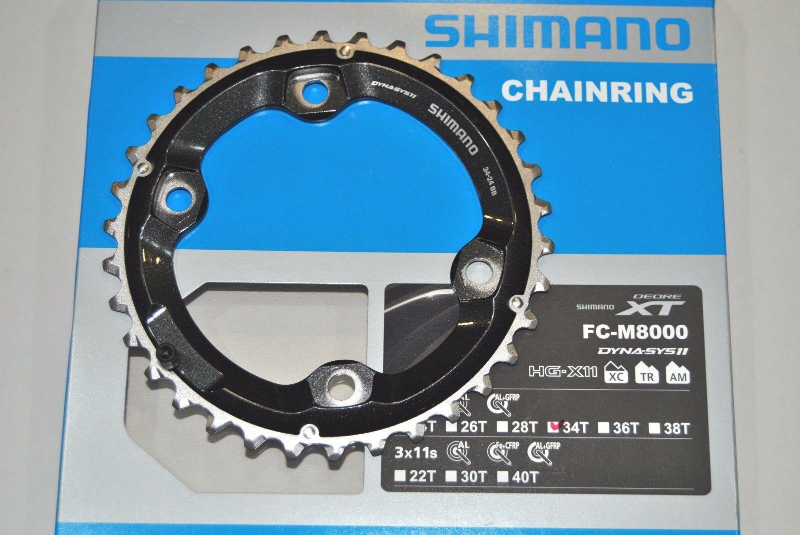 Corona SHIMANO XT 34T BB FC-M8000 ( 34x24 ) CHAINRING  SHIMANO XT 34T BB FC-M8000  los clientes primero