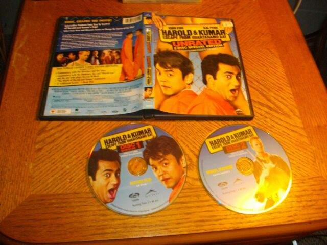 Harold  Kumar Escape from Guantanamo Bay (DVD, 2013, 2-Disc Set, Unrated)