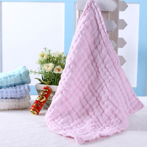 Soft Cotton Baby Infant Newborn Bath Towel Washcloth Feeding Wipe Cloth