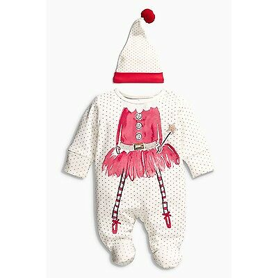 Christmas Winter Infant Baby Girl Hat Bodysuit Rompers Jumpsuit Clothes Outfit