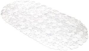 "TM-ROC/26 - ""Pebbles"" Vinyl Slip-Resistant Bath Tub Mat - Clear"