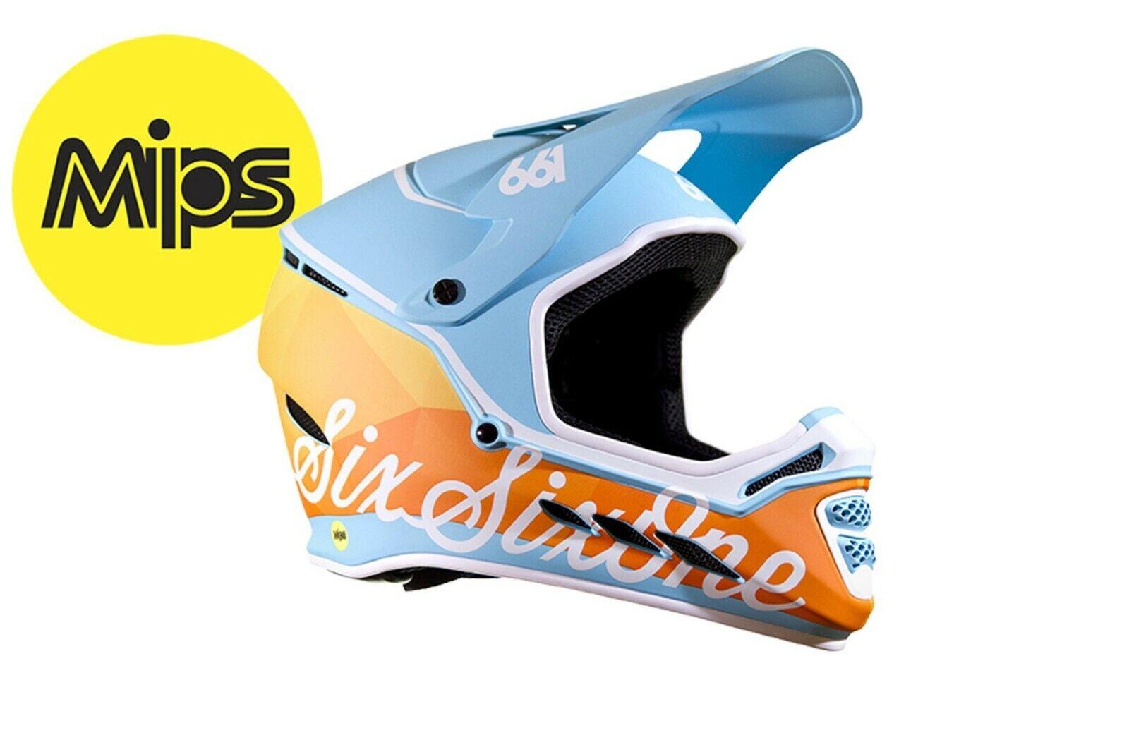 SixSixOne 661 - Reset MIPS - Full Face MTB Bike   BMX Helmet - Geo Blorange