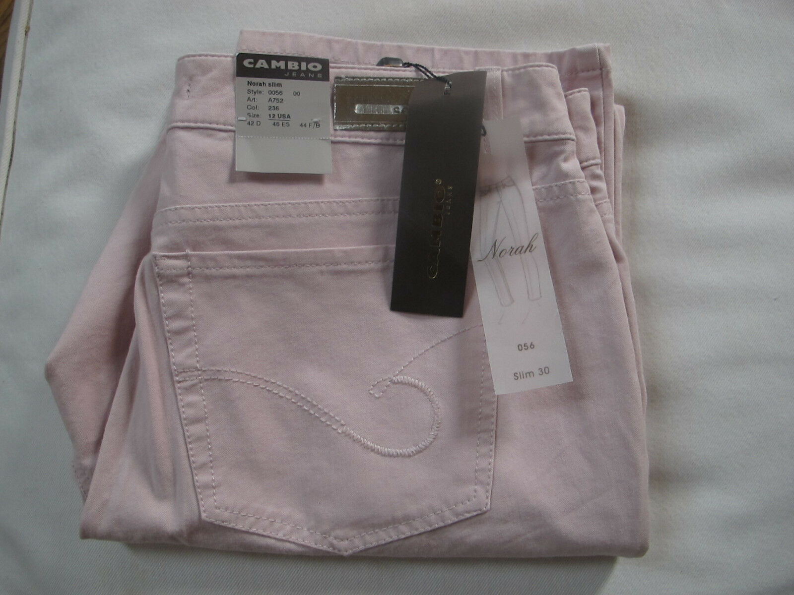 Cambio  Norah Slim   Pink stretch Jeans. .Women's Size 10. NWT.