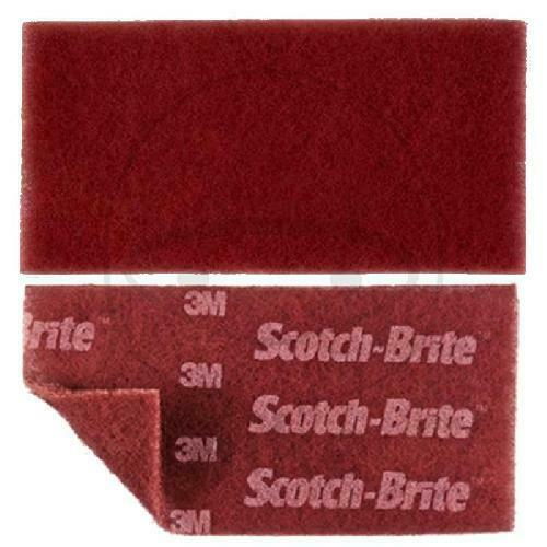 3M HANDPAD 115X230X5 rot Scotch Brite DURABLE Flex 64659
