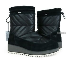 b4ccefdbf24 Details about UGG Beck Boot Black Waterproof Boots Womens Size 9.5 *NIB*