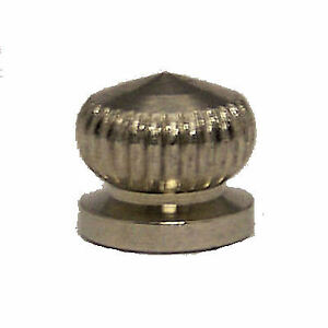 Details about lamp parts lot of 2 chrome plated cap nuts w 8 32 screw hole tv 569 image is loading lamp parts lot of 2 chrome plated cap aloadofball Images
