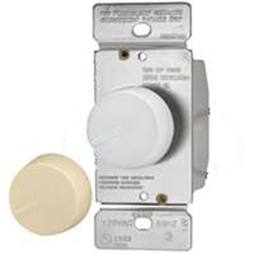 LUTRON DNG-603PH-DK 3-Way Rotary Dimmer Light Control DIM GLOW White Ivory Knobs