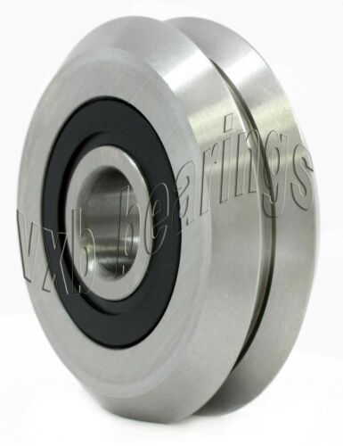 8-PACK RM2-2RS 3//8/'/' V Groove Rubber Sealed Line Track Roller vgroove Bearing