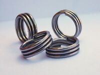 Super Split Rings Triple Wrapped Stainless Steel (5 - 5/16 Od 135 Lb) 25 Pack on sale