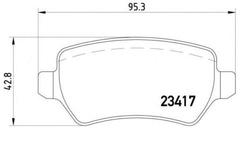 JD + PRO CEE`D Sportswagon BELÄGE HINTEN KIA CEED BREMSSCHEIBEN 262mm