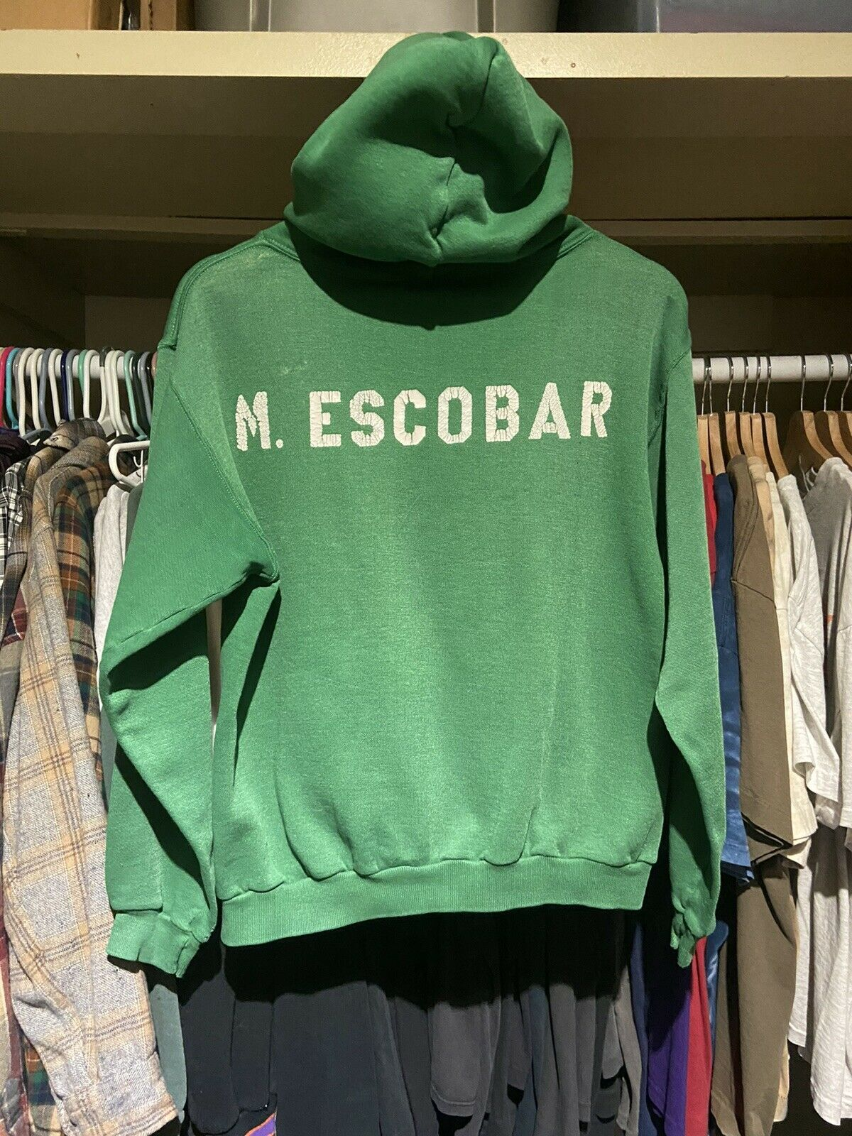 Vintage 70s Russell Athletic Green Pullover Hoodi… - image 3