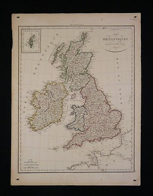 Flight Tracker Royaume Unis England Angleterre Par Le Pierre Lapie (1779-1850) Géographe 1816 Blijf Je Altijd Fit