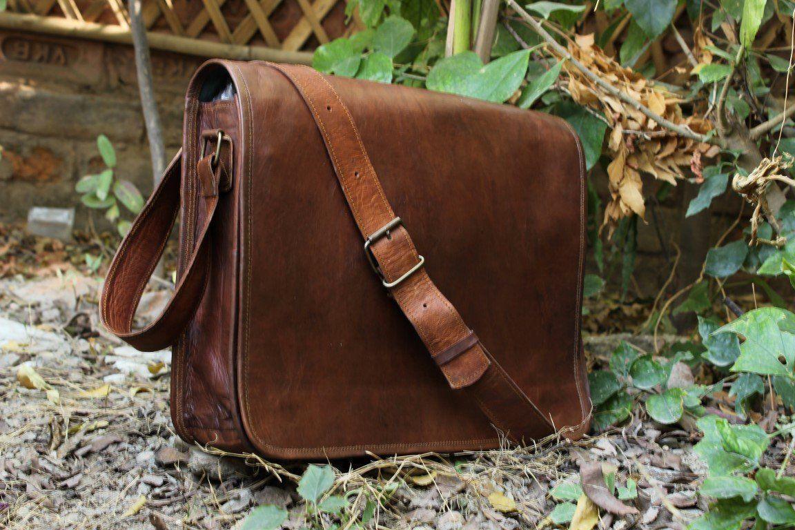 Laptop Vintage Vintage Vintage Leder Handtasche Cross Body Schultertasche Messenger Bag Laptop    | Haltbar  02eedc