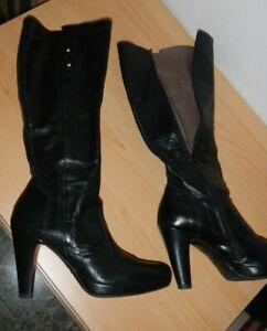 Dettagli su Nero Giardini stivali stivaletti scarpe donna n 35 di pelle 185 euro