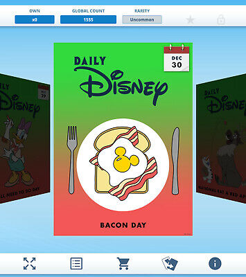 Topps Disney Collect Daily Disney December 3 ROOF OVER YOUR HEAD DAY