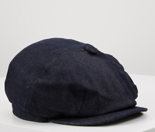 MENS 8 PANEL BLACK WHITE HERRINGBONE NEWSBOY CAP PEAKY BLINDERS HW1466BK BNWT