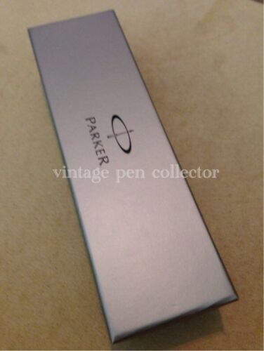 PARKER VECTOR STAINLESS STEEL CT ROLLERBALL PEN-FRANCE-GIFT BOX-Blue Ink
