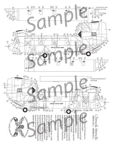 WW Decals 48-07 CH//MH-47 Stencils