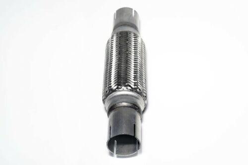 310mm 2 Screw Clamps Mazda Uni Front Exhaust Flex Pipe Tube Steel Mesh 45x200