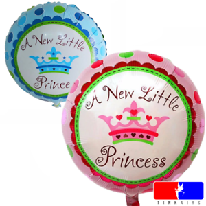 "Baby 18/"" Helium Folienballon Geburt Neugeboren 1 Prinzessin Prinz Geburtstag"