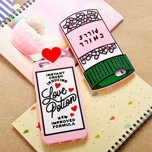 Fashion-3D-Cartoon-Chill-Pills-Bottle-Silicone-Cover-Case-For-iPhone-X-5s-6s-7-8